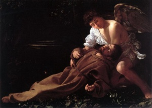 L'Extase de saint François Le caravage