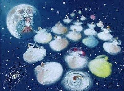 Sache que ce sont les vagues de l'amour, Qui font tourner la roue des cieux Rûmî, Poète Soufi.
